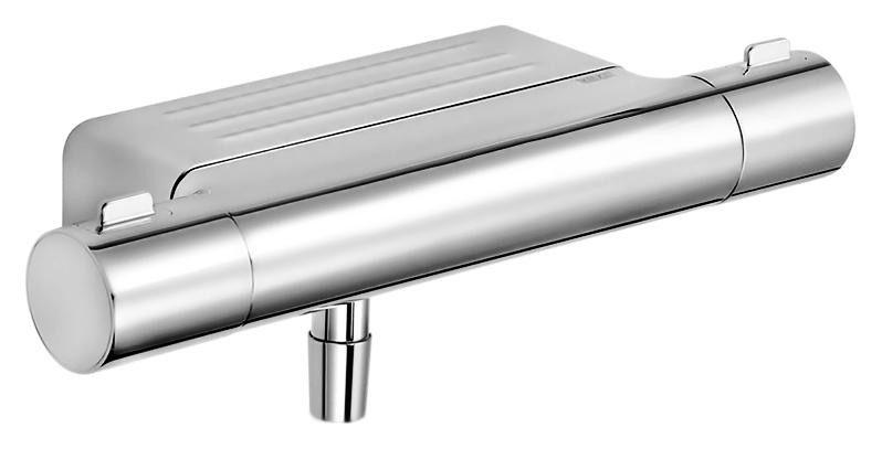 Moll 52726 010100 хромСмесители<br>Термостат для душа Keuco Moll 52726 010100. Рукоятка с 50% ограничением потока воды, защитная блокировка при 38°, штихмас 150 +/- 14 мм, с обратным клапаном. В комплект поставки входит смеситель.<br>