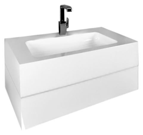 Edition 300 30362 002100 high-gloss white alpineМебель для ванной<br>Тумба под раковину Keuco Edition 300 30362 002100 белая высокоглянцевая с одним выдвижным ящиком. В комплект поставки входят: тумба под раковину, монтажный элемент, сортировочная секция.<br>