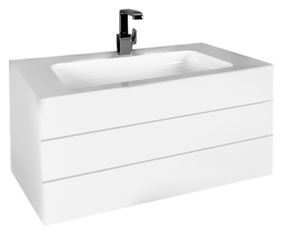 Edition 300 30384 212400 high-gloss white alpine/whiteМебель для ванной<br>Тумба под раковину Keuco Edition 300 30384 382100, фасад лакированный белый альпин высокоглянцевый, корпус лакированный белый, с двумя выдвижными ящикам оснащенными механизмом плавного закрывания. В комплект поставки входят: тумба под раковину, монтажный элемент.<br>