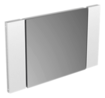 Edition 11 11196 001500 хромМебель для ванной<br>Зеркало Keuco Edition 11 11196 001500. 2 боковых крыла с подсветкой, угол поворота на 90°, с выдвигающимся поворотным зеркалом. Люминесцентная подсветка (4 x 14 Вт T5), скрытый выключатель. EEK: A+, 4 x 15 kWh/1000h. Размер по ширине: 1050 мм, включает в себя ширину крыльев подсветки. В комплект поставки входит зеркало.<br>