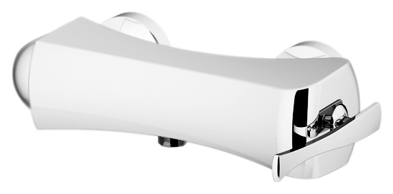 Icarus 4325 хромСмесители<br>Смеситель для душа Gattoni Icarus 4325 однорычажный, ручка справа, выпуск для шланга снизу, без излива, без душевого гарнитура. Цена указана за смеситель и гибкую подводку. Все остальное приобретается дополнительно.<br>