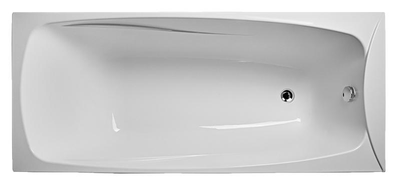 Пальмира 170х75 EUR0008 БелаяВанны<br>Ванна акриловая Eurolux Акра 160х70 EUR0008 белая прямоугольная. Размеры 1700x750x640 мм. Глубина 490 мм. Объем 300 л.<br>