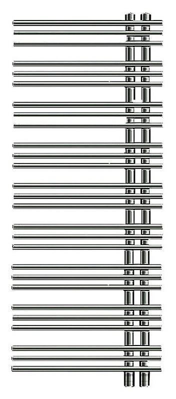 Электрический полотенцесушитель Zehnder Yucca asymmetric YAE-130-40/YD (VD) Хром левый с электропатроном WIVAR электрический полотенцесушитель zox лц дуга 60x40 6п левый хром