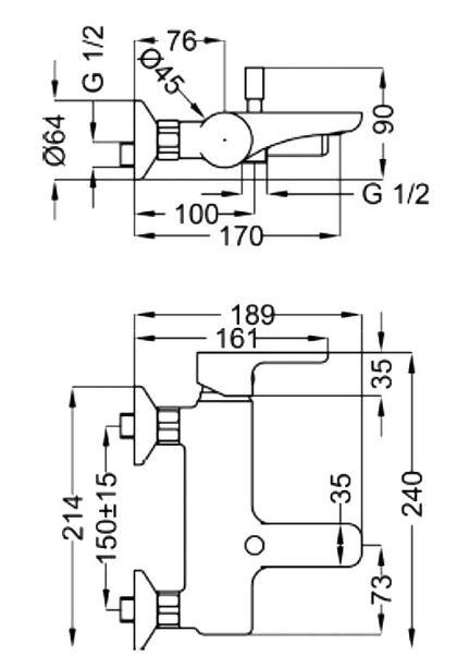 Mohito ST-MOH-43060-CR ХромСмесители<br>Смеситель Sturm Mohito ST-MOH-43060-CR настенный для раковины с набор в который входит: смеситель, душевой шланг, душевая лейка, аэратор, дивертор и держатель для душевой лейки с керамическим картриджем. Цвет изделия – хром.<br>