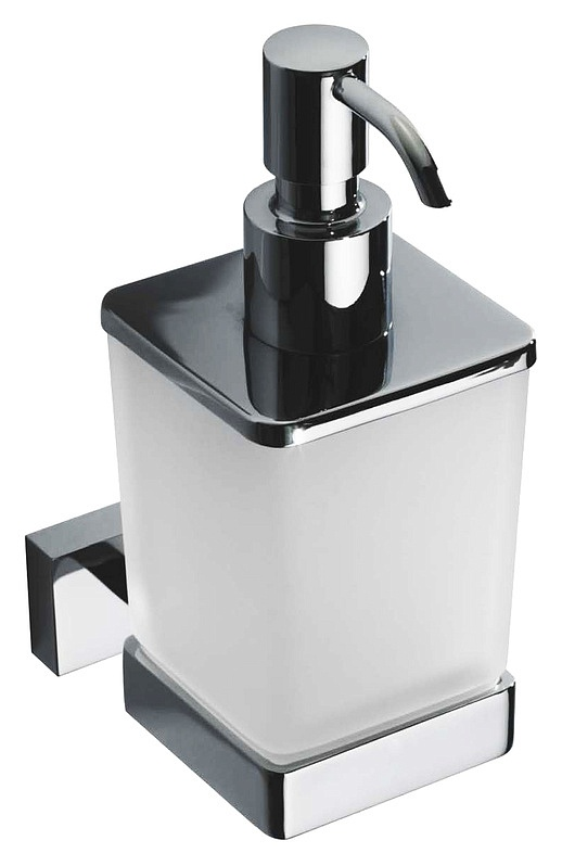 Дозатор для жидкого мыла Bemeta Plaza 118209049 Хром/Прозрачный дозатор для жидкого мыла bemeta настенный 104109017