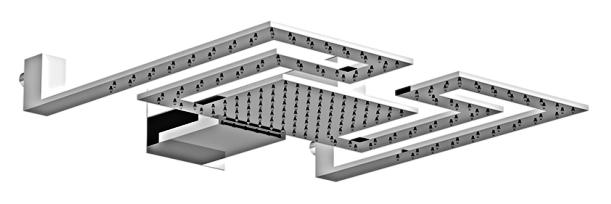 Programma Docce Labyrinth 1021/SDC0 хромВерхние души<br>Верхний душ лабиринт Gattoni Programma Docce 1021/SDC0 с двумя режимами: тропический дождь и водопад. Цена указана за верхний душ. Все остальное приобретается дополнительно.<br>