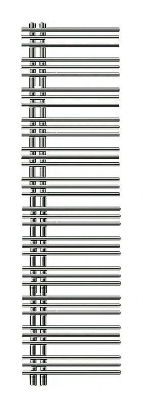 Yucca asymmetric YA-170-040 ХромПолотенцесушители<br>Водяной полотенцесушитель Zehnder Yucca asymmetric YAC-170-040 Chrome однорядный. Для закрытых систем отопления. Цвет - хром. Мощность 402 Вт. Монтажный комплект в цвет полотенцесушителя. Возможна эксплуатация в комбинированном режиме (отопление и электронагрев) для этого необходимо дополнительно приобрести электропатрон и переходники.<br>