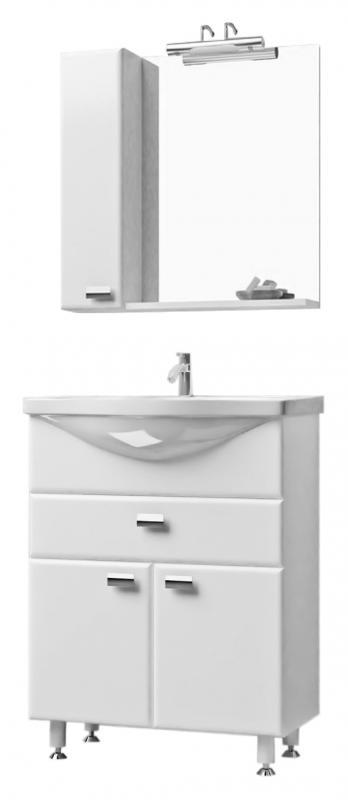 Вега 65 ВенгеМебель для ванной<br>Тумба с раковиной Bestex Вега 65 с двумя дверцами с плавным закрыванием и одним выдвижным ящиком на роллингах. Четкость линий и форм, в так же благородные цвета данной тумбы сделают интерьер Вашей ванной привлекательным и гармоничным. Раковина, шириной 65 см, обладает хорошим водоизмещением. Цена указана за тумбу и раковину Santek Стелла 65. Все остальное приобретается дополнительно.<br>