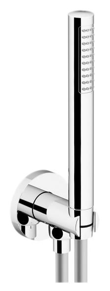 Programma Docce KTC01/PD хромДушевые гарнитуры<br>Душевой гарнитур Gattoni Programma Docce KTC01/PD с ABS ручным душем, латунным держателем для душа и гибким шлангом 1500 мм. Цена указана за шланг, держатель для душа и ручной душ. Все остальное приобретается дополнительно.<br>