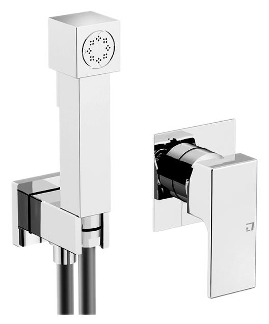 Programma Docce 2511 хромГигиенические души<br>Набор гигиенический душ Gattoni Programma Docce 2511 со встроенным смесителем, душевой лейкой, держателем для душа со шланговым подключением (выпуск из стены), шлангом 1500 мм. Цена указана за смеситель, шланг, держатель для душа и гигиенический душ. Все остальное приобретается дополнительно.<br>