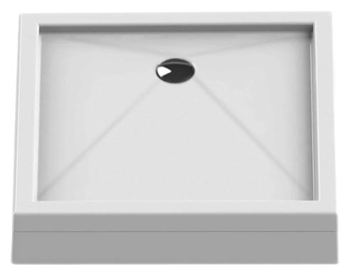 Cantare Silver 80 B-0321 белыйДушевые поддоны<br>Душевой поддон New Trendy Cantare Silver 80 B-0321 квадратный, из качественного акрила, усиленный ламинатом на базе смолы, на регулируемых ножках. Высокая прочность на нагрузку. Диаметр сливного отверстия 90 мм. Безопасный и комфортный в использовании. Интегрированная фронтальная панель. Цена указана за поддон, ножки и панель. Сифон и все остальное приобретается дополнительно.<br>