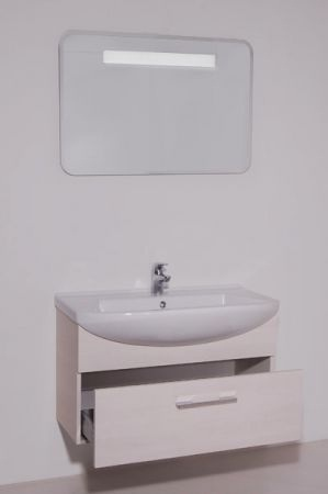 Модерн 1 75 подвесная Желтый глянецМебель для ванной<br>В стоимость входит тумба с раковиной Sanvit Модерн 1 75. Тумба подвесная с одним выдвижным ящиком на доводчиках, раковина керамика. Зеркало приобретается отдельно.<br>