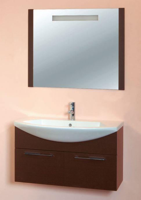 Модерн 90 подвесная Красный глянецМебель для ванной<br>В стоимость входит тумба с раковиной Sanvit Модерн 90. Тумба подвесная с двумя распашными дверцами, раковина керамика. Зеркало приобретается отдельно.<br>