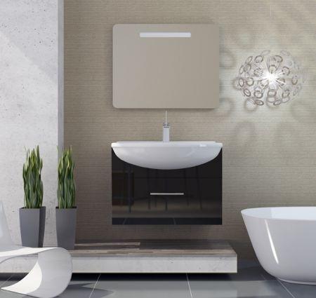 Модерн 1 90 подвесная Белый глянецМебель для ванной<br>В стоимость входит тумба с раковиной Sanvit Модерн 1 90. Тумба подвесная с одним выдвижным ящиком на доводчиках, раковина керамика. Зеркало приобретается отдельно.<br>