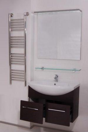 Модерн 2 75 подвесная ВенгеМебель для ванной<br>В стоимость входит тумба с раковиной Sanvit Модерн 2 75. Тумба подвесная с двумя выдвижными ящиками на доводчиках, раковина керамика. Зеркало приобретается отдельно.<br>
