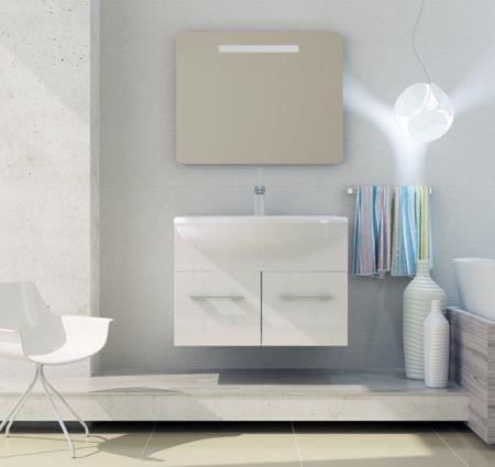Модерн 2 90 подвесная ЛиственницаМебель для ванной<br>В стоимость входит тумба с раковиной Sanvit Модерн 2 90. Тумба подвесная с двумя выдвижными ящиками на доводчиках, раковина керамика. Зеркало приобретается отдельно.<br>