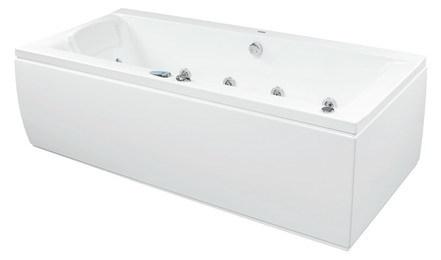 Winsdor 180 x 85 Effects NaviВанны<br>Ванна Pool Spa серия Winsdor, в комплект входит: ванна и рама.<br>Электронное управление. Двухсторониий водонепроницаемый пульт:<br>– 3 кнопки на одной стороне пульта (запускающие подготовленные программы «Pro Relaxation», «Skin Beauty» и «Body Regeneration»).<br>– 4 кнопки с другой стороны пульта (возможность самостоятельной установки водного и воздушного массажа, а также хромотерапии).<br>– Индикатор температуры (выполнен лазерной печатью на кромке ванны) с цветными светодиодами, указывающими температуру воды в ванне.<br>Водный массаж:<br>&amp;#8722; ротационные форсунки для спины.<br>&amp;#8722; ротационные форсунки для стоп (в ваннах с круглыми форсунками).<br>– направленные форсунки для стоп (в ваннах с квадратными форсунками).<br>&amp;#8722; боковые форсунки с возможностью регулировки направления водной струи. <br>– пульсационный массаж.<br>&amp;#8722; датчик уровня воды.<br>&amp;#8722; защита от сухого запуска насоса.<br>&amp;#8722; отвод воды после купания из системы водного массажа.<br>– функция TURBO – усиление водного массажа воздухом из воздушного компрессора).<br>Воздушный массаж:<br>– система воздушных каналов в ванне.<br>– воздушный компрессор с подогревом.<br>– автоматическое озонирование воды.<br>– электронная регулировка силы воздушного массажа.<br>– пульсационный массаж.<br>– отвод воды после купания из системы воздушного массажа.<br>– автоматическая просушка системы аэромассжа теплым воздухом после купания.<br>– автоматическая продувка воздушных каналов через каждые 24 часа.<br>Хромотерапия. Запрограммированное максимальное время купания 30 минут.<br>