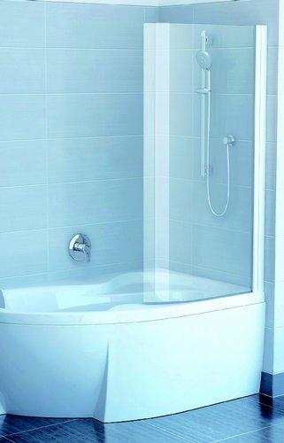 Шторка для ванны Ravak EVSK1-85 Rosa 150/160 Wh+Wh Транспарент 150/160 R delete