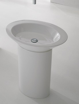 Wish 2004 ДекорРаковины<br>Раковина керамическая Scarabeo Wish без перелива. Пьедестал приобретается отдельно. Возможно исполнение в следующих цветах: 45-46-47 , E-F-G-O-P-Q.<br>