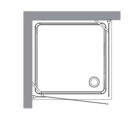 Retro 9146 T3 профиль бронза стекло прозрачноеДушевые ограждения<br>Душевой уголок Kerasan Retro 9146 T3.<br>