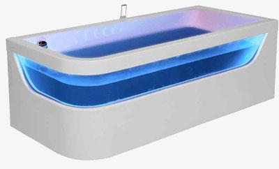 Sekret 180 x 80 R Ванна + хромотерапия + аэромассажВанны<br>Ванна Pool Spa серия Sekret, в комплект входит: ванна, хромотерапия, 66 светодиодов размещены над стеклом, а 3 диода подсвечивают выключатель. Аэромассаж состоит из: воздушного компрессора с подогревом воздуха и автоматического озонатора, воздушных каналов, сенсорного выключателя с подсветкой. Функции системы: отвод воды и автоматическая просушка системы аэромассажа после использования.<br>
