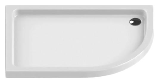 Maxima Silver Ultra 100x80 B-0334 белый, в левый уголДушевые поддоны<br>Интегрированный душевой поддон New Trendy Maxima Silver Ultra 100x80 B-0334 асимметричный, из качественного акрила, для установки в левый угол. Основание поддона пол. Высокая прочность на нагрузку. Диаметр сливного отверстия 90 мм. Безопасный и комфортный в использовании. Цена указана за поддон. Сифон и все остальное приобретается дополнительно.<br>
