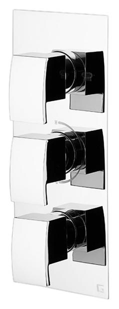 Termostatici TS994/40 Flat хромСмесители<br>Смеситель для ванны Gattoni Termostatici TS994/40 Flat термостатичный на 3 источника. Цена указана за внешнюю и внутреннюю части смесителя. Все остальное приобретается дополнительно.<br>