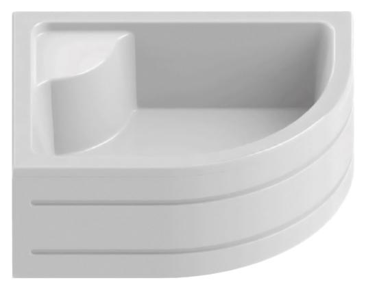 Maxima Silver 100x80 B-0183 белый, в левый уголДушевые поддоны<br>Душевой поддон New Trendy Maxima Silver 100x80 B-0183 с сиденьем, из качественного акрила, усиленный ламинатом на базе смолы, на регулируемых ножках. Для установки в левый угол. Высокая прочность на нагрузку. Диаметр сливного отверстия 52 мм. Безопасный и комфортный в использовании. Съемная фронтальная панель (не включена в состав базовой комплектации). Цена указана за поддон и ножки. Сифон, панель и все остальное приобретается дополнительно.<br>