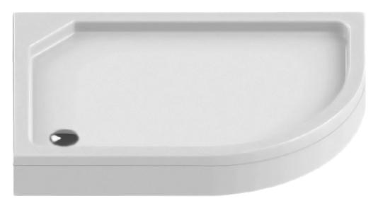 Maxima Silver 100x80 B-0338 белый, в левый уголДушевые поддоны<br>Душевой поддон New Trendy Maxima Silver 100x80 B-0338 из качественного акрила, усиленный ламинатом на базе смолы, на регулируемых ножках. Для установки в левый угол. Высокая прочность на нагрузку. Диаметр сливного отверстия 90 мм. Безопасный и комфортный в использовании. Съемная фронтальная панель (не включена в состав базовой комплектации). Цена указана за поддон и ножки. Сифон, панель и все остальное приобретается дополнительно.<br>