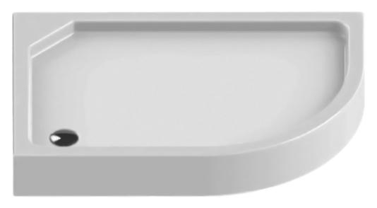 Maxima Silver 100x80 B-0282 белый, в правый уголДушевые поддоны<br>Душевой поддон New Trendy Maxima Silver 100x80 B-0283 из качественного акрила, усиленный ламинатом на базе смолы, на регулируемых ножках. Для установки в правый угол. Высокая прочность на нагрузку. Диаметр сливного отверстия 90 мм. Безопасный и комфортный в использовании. Интегрированная фронтальная панель. Цена указана за поддон, панель и ножки. Сифон и все остальное приобретается дополнительно.<br>