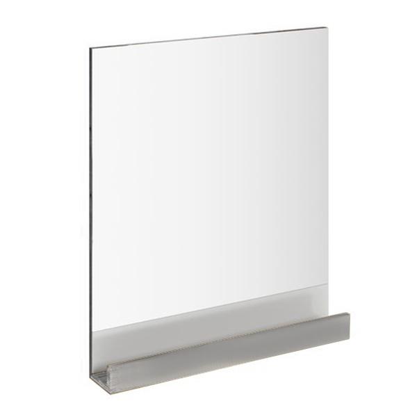 10° 65х75 БелоеМебель для ванной<br>Зеркало 10 X000000848 обладает встроенной практичной полкой, исполнение которой совпадает с одной из трех предлагаемых расцветок мебели 10°. Цвет изделия - Белый<br>
