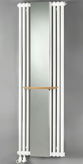 Charleston Mirror CM 2180-12 2180-12 БелыйРадиаторы отопления<br>Стальной радиатор Zehnder Charleston Mirror CM 2180-12 с зеркальной вставкой. Цвет - белый (RAL 9016). Мощность 1401 Вт. Масса 40.5 кг. Емкость 19.2 л. В комплект поставки входят: радиатор, зеркало 230 x 1792 мм, полотенцедержатель, монтажный набор в цвет радиатора 4 х CVD 0 + BH.<br>