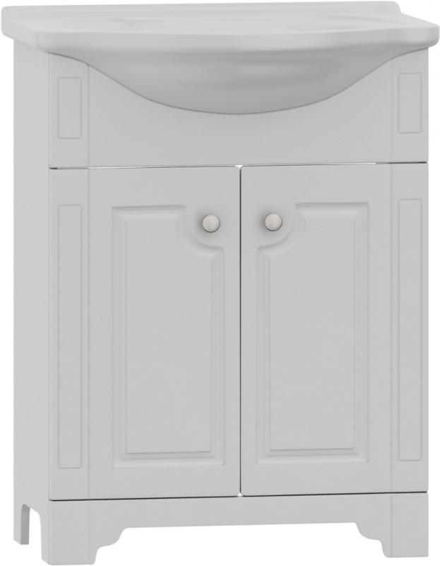 Tradition M95-FSX0601WG-WCC0602 Tradition 60Мебель для ванной<br>Мебель для ванной Dorff  Tradition M95-FSX0601WG-WCC0602<br> на ножках с раковиной 60см. <br>Корпус изготовлен из влагостойкой ДСП категории качества Е1 с меламиновым покрытием<br>Фасадные панели изготовлены из MDF категории качества Е1<br>Наружные элементы мебели окрашены экологически чистыми полиуретановыми и акриловыми эмалями, соответствующими международному стандарту качества ISO 9002<br>Используются зеркальные полотна с подложкой на основе серебряной амальгамы, что значительно увеличивает срок службы в помещениях с повышенной влажностью<br>Изделия комплектуются фурнитурой с системой мягкого закрывания ведущих мировых производителях, торговые бренды которых признаны синонимами качества и надежности<br>Электрооборудование отвечает требованиям безопасности для работы в помещениях с повышенной влажностью и сертифицировано в соответствии с нормами ГОСТ.<br>