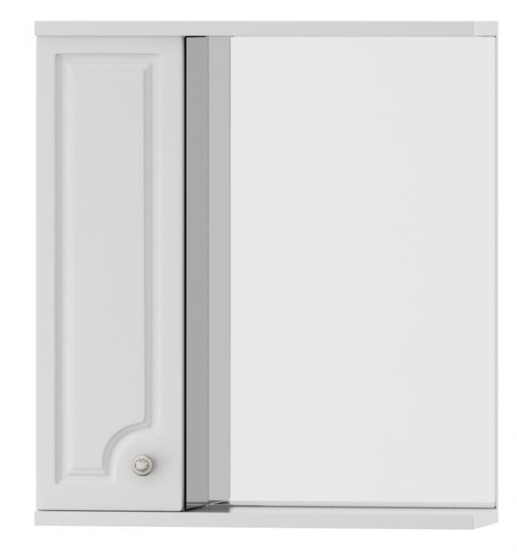 Tradition M95MPL0601WG Tradition 60 LМебель для ванной<br>Зеркальный шкаф Dorff Tradition M95MPL0601WG. Исполнение с левой стороны. Корпус изготовлен из влагостойкой ДСП категории качества Е1 с меламиновым покрытием. Фасадные панели изготовлены из MDF категории качества Е1. Наружные элементы окрашены экологически чистыми полиуретановыми и акриловыми эмалями, соответствующими международному стандарту качества ISO 9002. Используются зеркальные полотна с подложкой на основе серебряной амальгамы, что значительно увеличивает срок службы в помещениях с повышенной влажностью. Комплектуется фурнитурой с системой мягкого закрывания.<br>