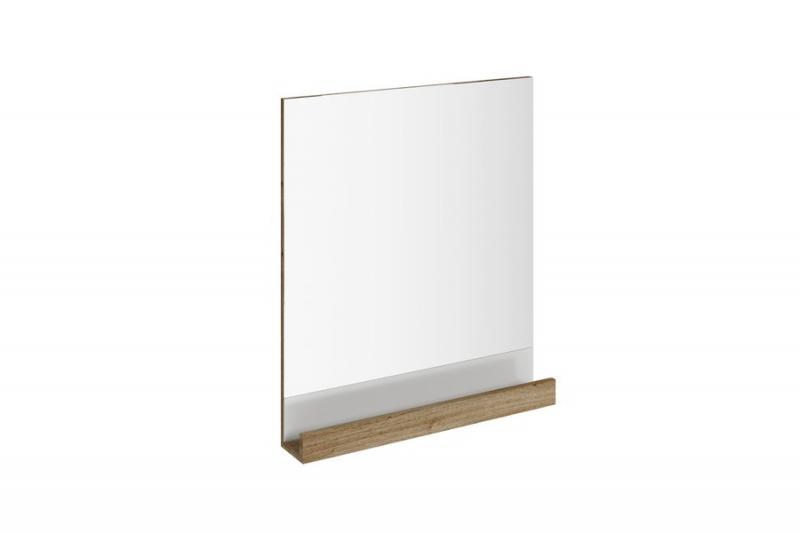 10° 55х11 Темно-ореховоеМебель для ванной<br>Зеркало 10 X000000850 обладает встроенной практичной полкой. Цвет изделия - темный орех.<br>