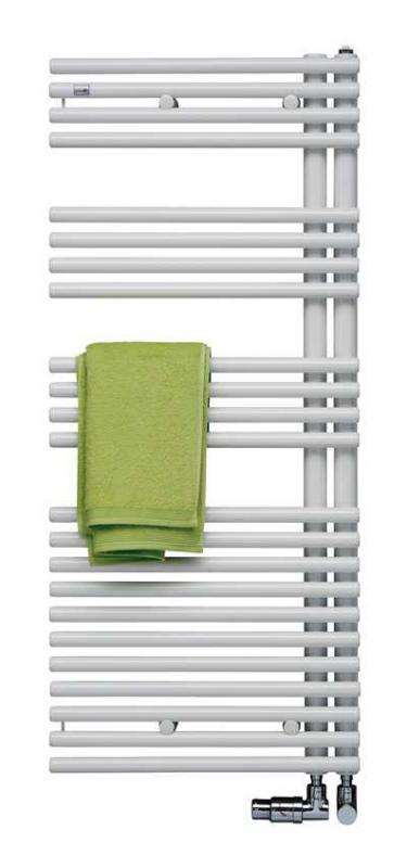 Forma Asym LFAR-120-060 Белый правыйПолотенцесушители<br>Водяной полотенцесушитель Zehnder Forma Asym LFAR-120-060 правый. Предназначен для установки в закрытые системы отопления. Цвет - белый Ral 9016. Монтажный комплект в цвет полотенцесушителя.<br>
