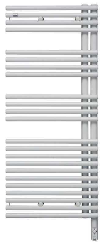 Forma Asym LFAER-120-60/DD Белый левыйПолотенцесушители<br>Электрический полотенцесушитель Zehnder Forma Asym LFAEL-120-60/DD левый - белый Ral 9016. Встроенный электропатрон DBM с ручной регулировкой белого цвета. Монтажный комплект в цвет полотенцесушителя.<br>