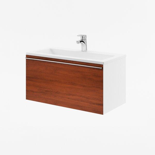 SD Clear 800 Белая/вишняМебель для ванной<br>Тумба под раковину Ravak SD Clear 800 в современном стиле, подвесная, пристенная. Просторный выдвижной ящик для хранения. Цвет изделия - белый/вишня.<br>