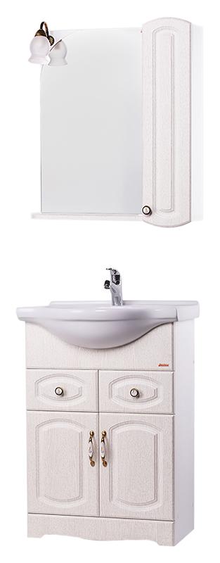 Классика 60 ПатинаМебель для ванной<br>Тумба с раковиной Bestex Классика 60 с двумя выдвижными ящиками с плавным закрыванием и двумя дверцами с доводчиками и керамическими ручками.Тумба сочетает в себе строгость и минимализм, а актуальный цвет патина и акцент на деталях (керамические ручки) придают ей благородный и, в то же время современный вид. Цена указана за тумбу и раковину Santek Байкал 60. Все остальное приобретается дополнительно.<br>