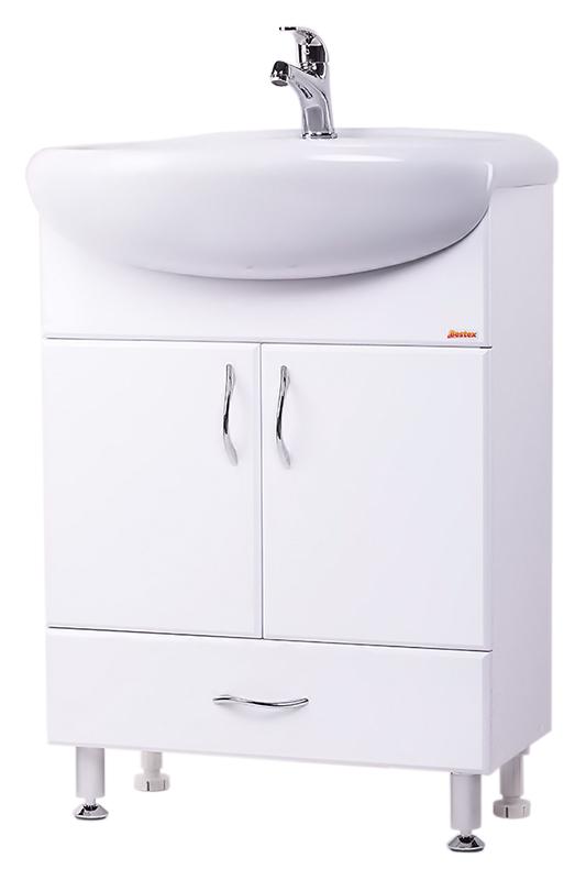 Стиль 60-3 БелаяМебель для ванной<br>Тумба с раковиной Bestex Стиль 60-3, с двумя распашными дверцами и одним выдвижным ящиком, гармонична в своей безукоризненной простоте. Цена указана за тумбу и раковину Старый Оскол Арго 60. Все остальное приобретается дополнительно.<br>