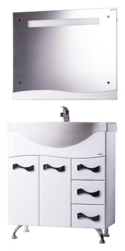 Астра 80 БелаяМебель для ванной<br>Тумба с раковиной Bestex Астра 80, с двумя дверцами с плавным закрыванием и тремя ящиками на роллингах, с декоративными металлическими ручками - это сочетание изысканного дизайна, простоты форм, новых тенденций и функциональности. Данная модель акцентирует Ваше внимание на интересно выполненных деталях. Цена указана за тумбу и раковину Cersanit Erica 80. Все остальное приобретается дополнительно.<br>