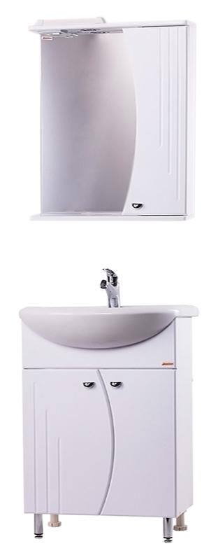 Восход-2 58 БелаяМебель для ванной<br>Тумба с раковиной Bestex Восход-2 58 с двумя дверцами изогнутой формы - это красивая, компактная и функциональная модель, которая способна моментально преобразить интерьер ванной комнаты любых габаритов. Цена указана за тумбу и раковину Santeri Intact 58. Все остальное приобретается дополнительно.<br>