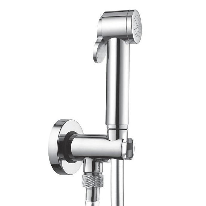 Paloma C69013B.030 ХромГигиенические души<br>Гигиенический душ Bossini Paloma C69013B.030 c держателем, встроенным блокиратором и выходом воды, шланг 1250 мм.<br>