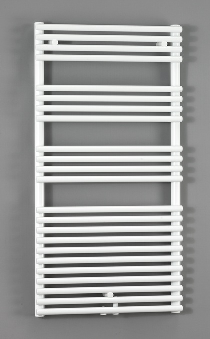 Forma Spa LFD-120-050-05 БелыйПолотенцесушители<br>Водяной полотенцесушитель Zehnder Forma Spa LFD-120-050-05. Для эксплуатации в закрытых системах отопления. Двухрядный, подключение по центру. Мощность 848 Вт. Цвет - белый (RAL 9016). Монтажный комплект в цвет полотенцесушителя. Возможна эксплуатация в комбинированном режиме (отопление и электронагрев) для этого необходимо дополнительно приобрести электропатрон и переходники.<br>