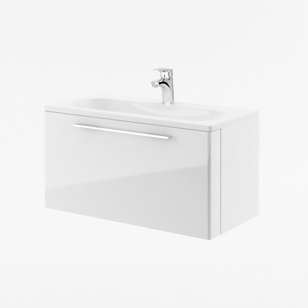 SD Ring 800 серыйМебель для ванной<br>Тумба под раковину SD Ring 800. Тумба коллекции мебели для ванной Ring отличается от другой современной продукции своими горизонтальными линиями. Цвет изделия - серый.<br>