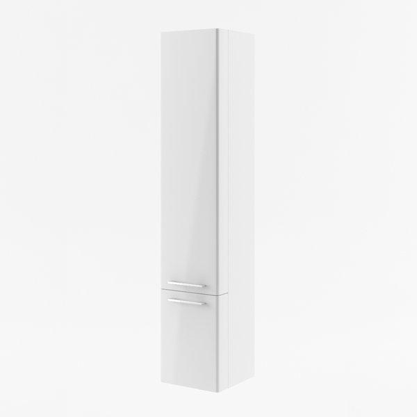 SB Ring 300 R БелыйМебель для ванной<br>Шкаф пенал SB Ring 300 R для ванной комнаты. Полками оснащен не только основной корпус пенала, но и его дверцы. Цвет изделия - белый.<br>