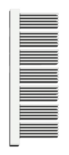 Водяной полотенцесушитель Zehnder Yucca Cover YPR-150-60 Белый правый, декоративная крышка – хром фото