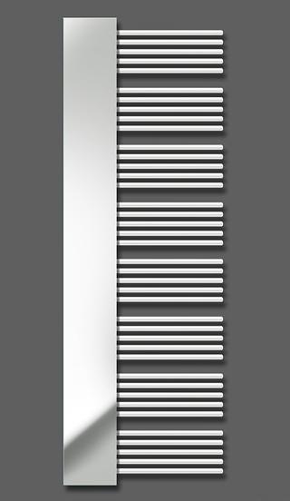 Yucca Mirror YM-180-60 Белый правыйПолотенцесушители<br>Водяной полотенцесушитель Zehnder Yucca Cover YM-180-60 правый, с декоративной крышкой - зеркало. Для эксплуатации в закрытых системах отопления. Мощность 755 Вт. Цвет - белый (RAL 9016). Монтажный комплект в цвет полотенцесушителя. Возможна эксплуатация в комбинированном режиме (отопление и электронагрев) для этого необходимо дополнительно приобрести электропатрон и переходники.<br>