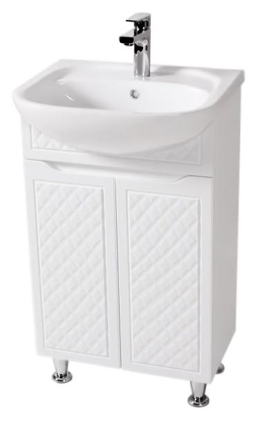 Родорс 50 белаяМебель для ванной<br>Тумба с раковиной Аква Родос Родорс 50, с двумя распашными дверцами, с австрийской фурнитурой, обеспечивающей плавное открытие-закрытие, с ножками, которые легко выставляются по высоте. 3D фасад придаёт тумбе уникальную огранку. Качественные материалы и комплектующие обеспечат Вам комфорт в пользовании мебелью. Цена указана за тумбу и раковину Нова 50. Все остальное приобретается дополнительно.<br>