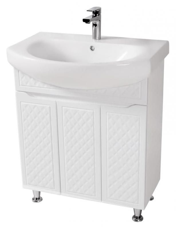 Родорс 70 белаяМебель для ванной<br>Тумба с раковиной Аква Родос Родорс 70, с тремя распашными дверцами, с австрийской фурнитурой, обеспечивающей плавное открытие-закрытие, с ножками, которые легко выставляются по высоте. 3D фасад придаёт тумбе уникальную огранку. Качественные материалы и комплектующие обеспечат Вам комфорт в пользовании мебелью. Цена указана за тумбу и раковину Руна 70. Все остальное приобретается дополнительно.<br>